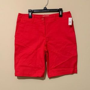 Red Talbots Bermuda Shorts Size 6 Petite